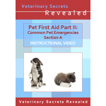 Pet First Aid Part II: Dog and Cat Emergencies Section A (Video)